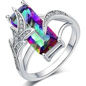 925 Silver Mystic Topaz Ring New